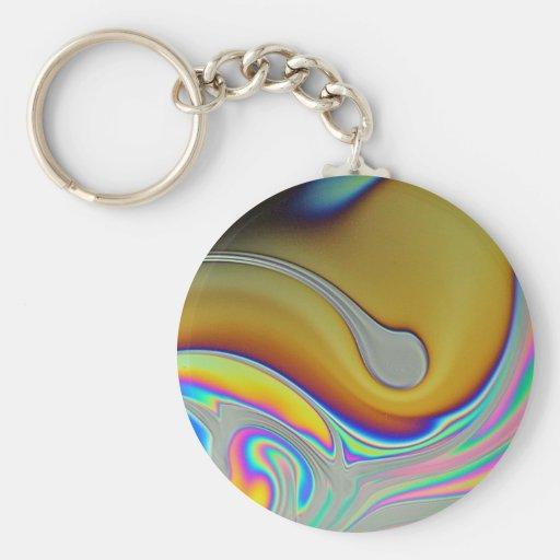 Foto de la superficie de la burbuja de jabón llavero