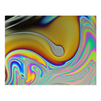Foto de la superficie de la burbuja de jabón postal