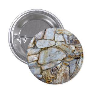 Foto de la textura de la pared de la roca en el chapa redonda de 2,5 cm