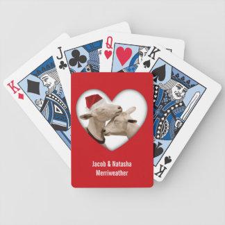 Foto de las cabras del navidad barajas de cartas