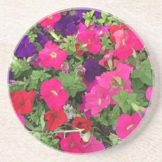 Foto de las flores apoyavasos