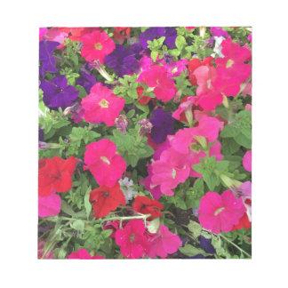 Foto de las flores bloc de notas