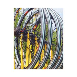 Foto de las ruedas de bicicleta impresiones de lienzo