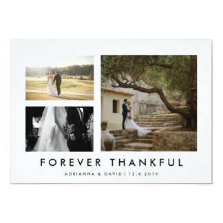 Foto de los pares que casa para siempre Minmalist Invitación 12,7 X 17,8 Cm