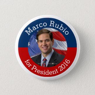 Foto de Marco Rubio para el presidente 2016 botón