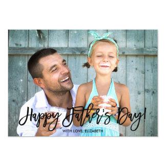 Foto de moda del día de padre de la escritura el | invitación 12,7 x 17,8 cm