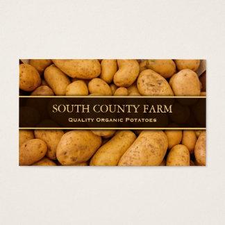 Foto de patatas - granja de la patata - tarjeta de