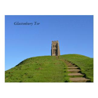 Foto de Somerset Inglaterra del Tor de Glastonbury Postal