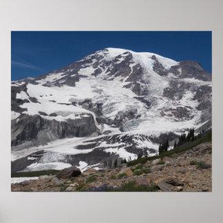 Foto de Vista del glaciar del Monte Rainier Póster