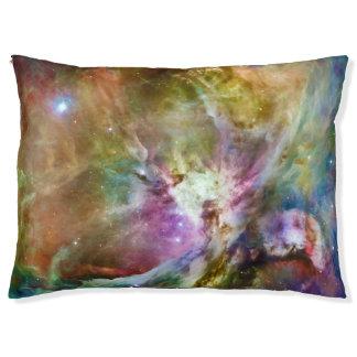 Foto decorativa del espacio de la galaxia de la cama para mascotas