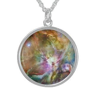 Foto decorativa del espacio de la galaxia de la collar de plata de ley
