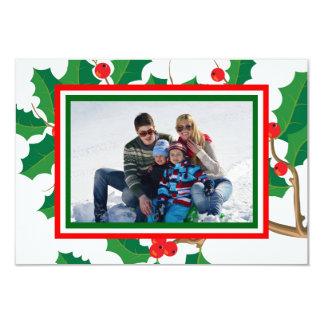 Foto del acebo - tarjeta de Navidad 3x5