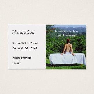 Foto del balneario de la tabla al aire libre del tarjeta de negocios
