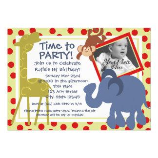 Foto del circo del tiempo del fiesta invitaciones personales