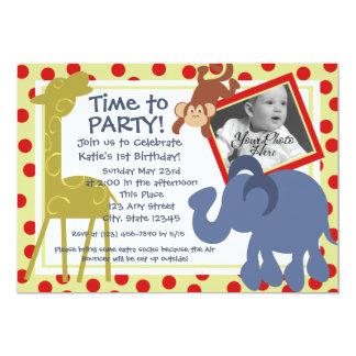Foto del circo del tiempo del fiesta invitación 12,7 x 17,8 cm