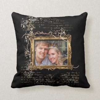 Foto del compromiso del aniversario de boda cojín decorativo