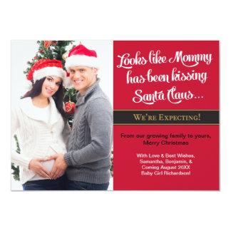 Foto del embarazo de la tarjeta de Navidad A6 - Invitación 11,4 X 15,8 Cm