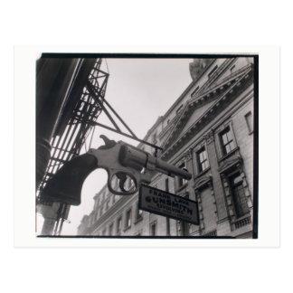 Foto del escopetero de NYC por la postal de