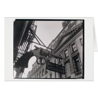 Foto del escopetero de NYC por la tarjeta de