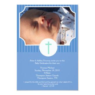 Foto del esmero 5x7 del bebé del bautismo de la invitación 12,7 x 17,8 cm