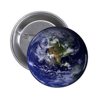 Foto del espacio de la tierra del planeta chapa redonda de 5 cm