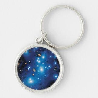 Foto del espacio del racimo de la galaxia de Abell Llavero Redondo Plateado