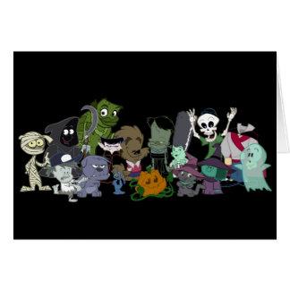 Foto del grupo de Halloweenies Tarjeta De Felicitación