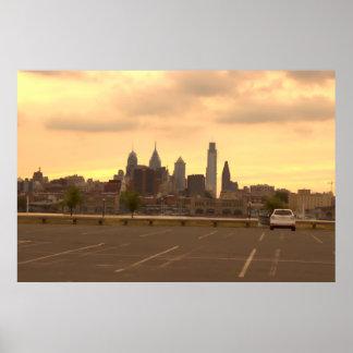 Foto del horizonte de Philadelphia Póster