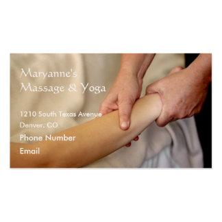 Foto del masaje del brazo plantilla de tarjeta personal