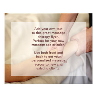 Foto del masaje sueco - brazo y mano tarjeta publicitaria