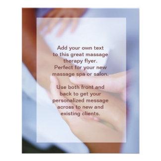 Foto del masaje sueco - brazo y mano folleto 11,4 x 14,2 cm