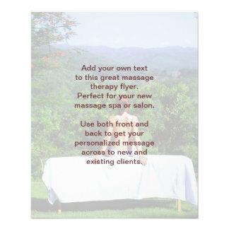 Foto del masaje sueco tarjetón