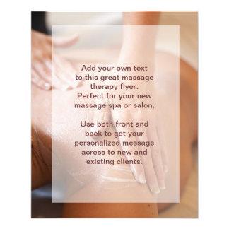 Foto del masaje sueco folleto 11,4 x 14,2 cm