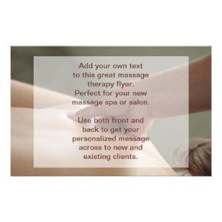 Foto del masaje sueco - presión del pulgar folleto 14 x 21,6 cm