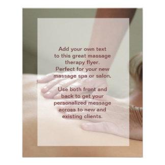 Foto del masaje sueco tarjetas informativas