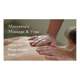 Foto del masaje sueco - trasera plantillas de tarjeta de negocio