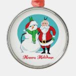 Foto del muñeco de nieve de Santa Ornaments Para Arbol De Navidad