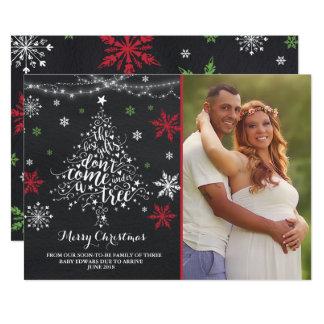 Foto del navidad de la invitación del embarazo del
