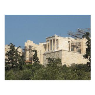 Foto del Parthenon del griego clásico de lejos Postal