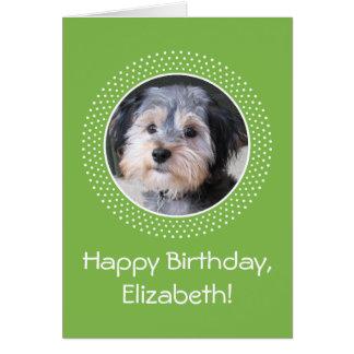 Foto del personalizable del cumpleaños tarjeta de felicitación