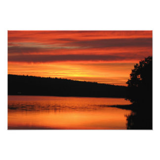 Foto del profesional de la puesta del sol de