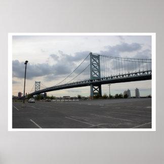 Foto del puente de Ben Frankin Póster