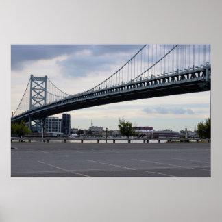 Foto del puente de Ben Franklin Póster