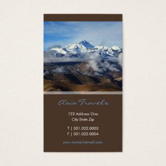 Foto del viaje de Tíbet Qomolangma Mt Everest Tarjeta De Negocios