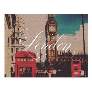 Foto del vintage de la señal de Londres Postal