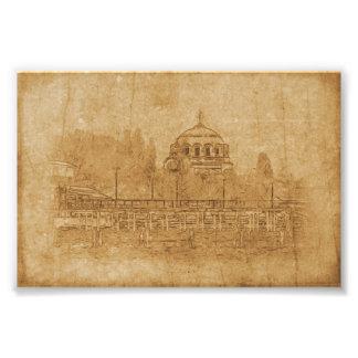 Foto Dibujo del vintage de la catedral
