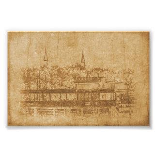 Foto Dibujo del vintage del alminar