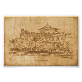 Foto Dibujo del vintage del edificio