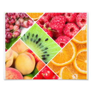 Foto Diseño colorido del modelo del collage de la fruta