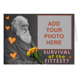 Foto divertida del personalizado de Charles Darwin Tarjeta De Felicitación